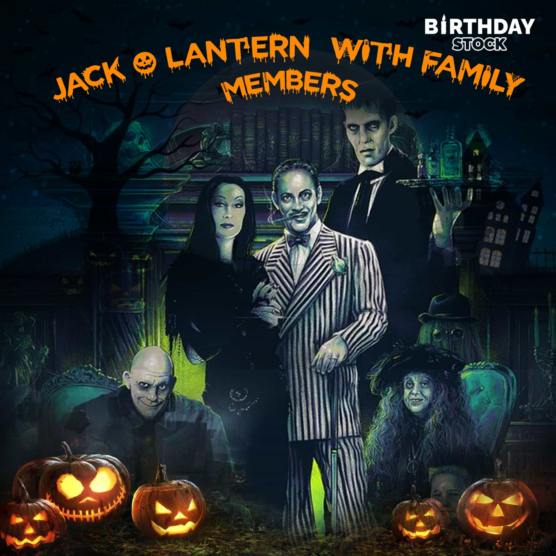 Jack o Lantern with Family Members