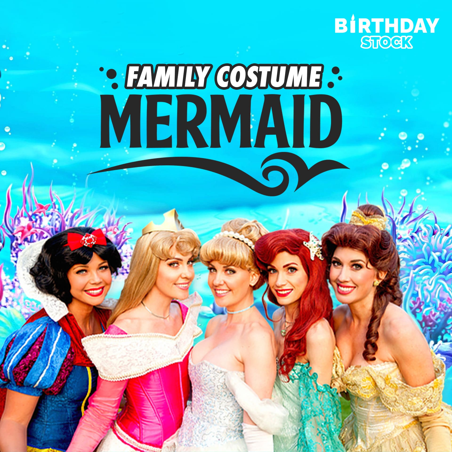 mermaid costumes for family, kids, dogs