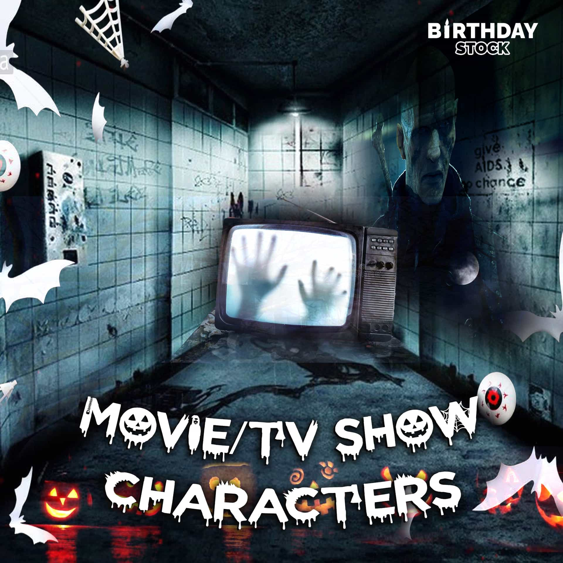Jack o Lantern with Movie/TV show Characters