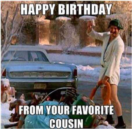Happy Birthday Memes for Favorite Cousin