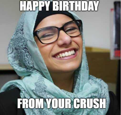 Happy Birthday Memes funny for Crush