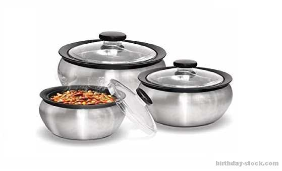 Birthday surprise ideas as insulated cookware