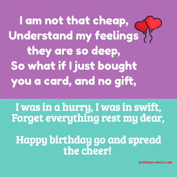 Funny Birthday Poems Download