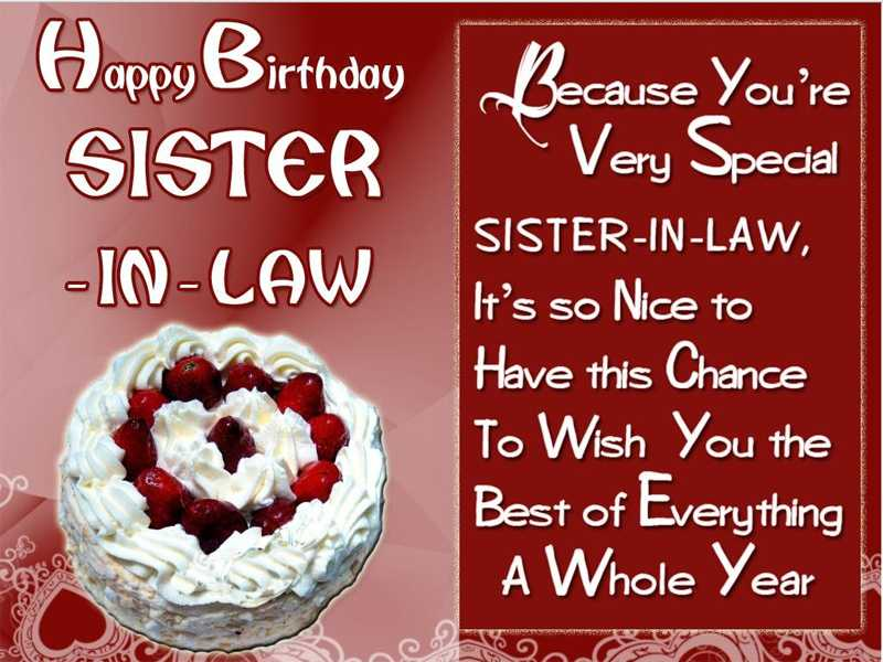 Best birthday wishes for sister-in-law with cakes