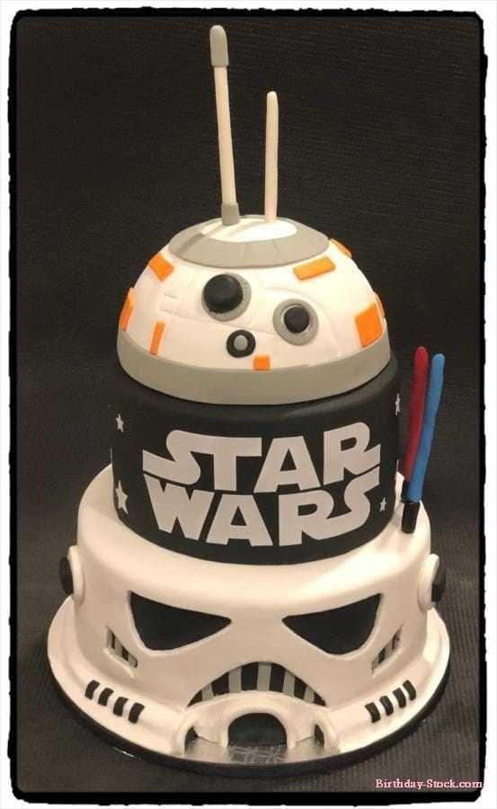 Happy Valentines Day 2019 cake with Star wars
