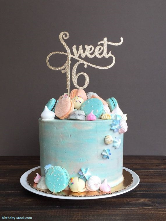 Happy Birthday Cakes Images for Sweet Sixteen Girls