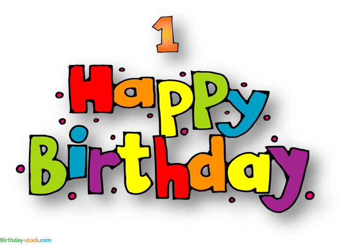 Happy Birthday Images Clipart for 1st Birthday Download