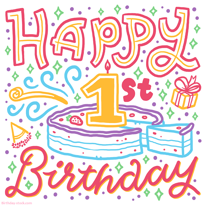 Happy Birthday Images for 1st Birthday Free Download