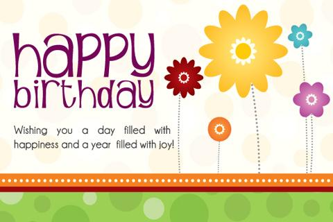 Happy Birthday Picture Message Templates