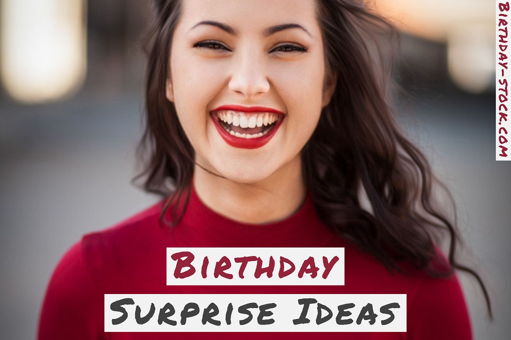 Birthday Surprise Ideas for Husband Him Boyfriend Girlfriend Friends