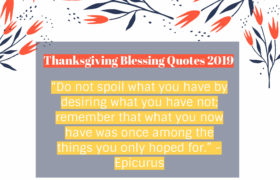 Best Happy Thanksgiving Blessings Quotes 2019 –SimpleThanksgiving Blessings 2019