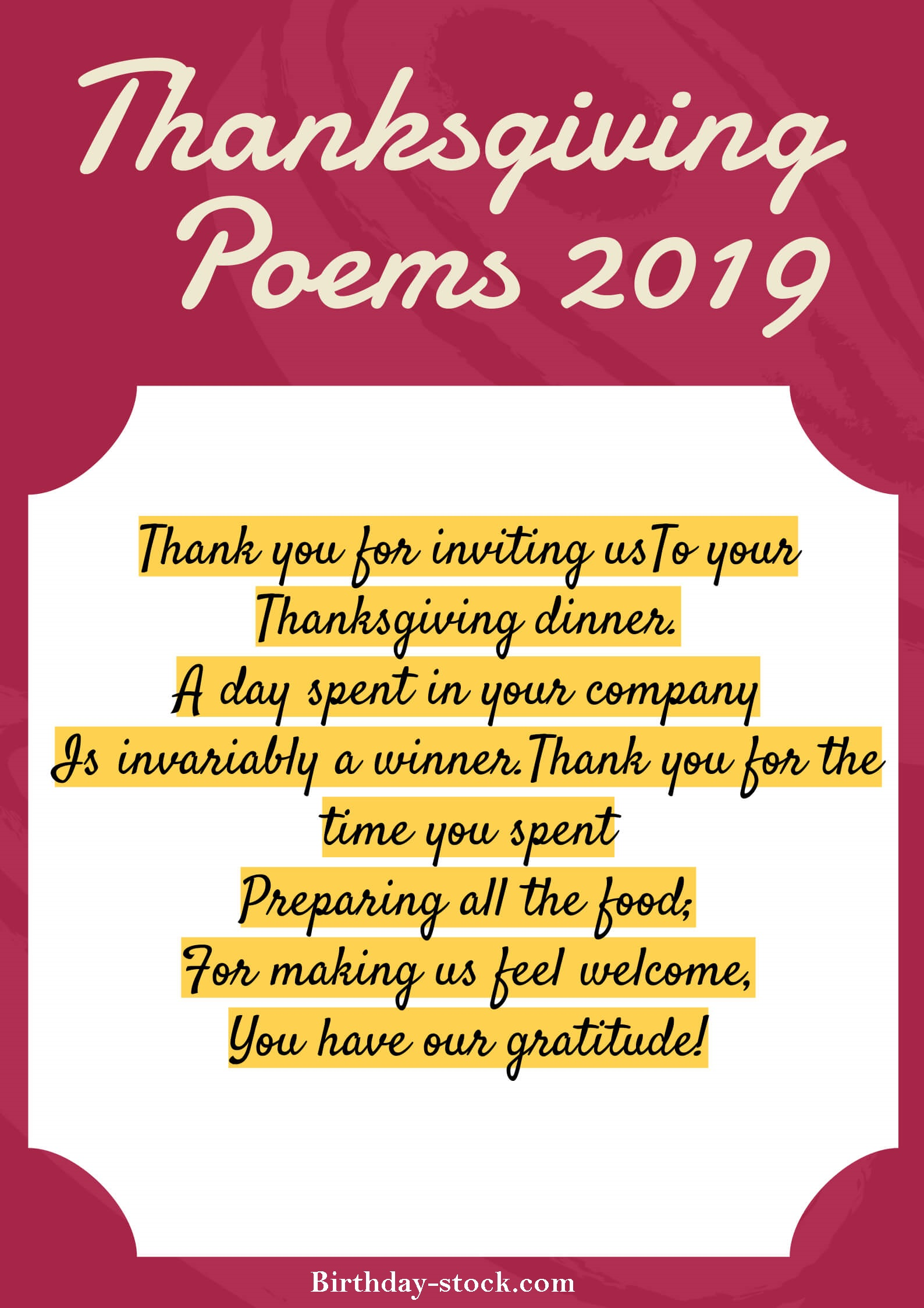 Best Happy Thanksgiving Poems 2019 For Family and Friends – Thanksgiving Day Poems 2019