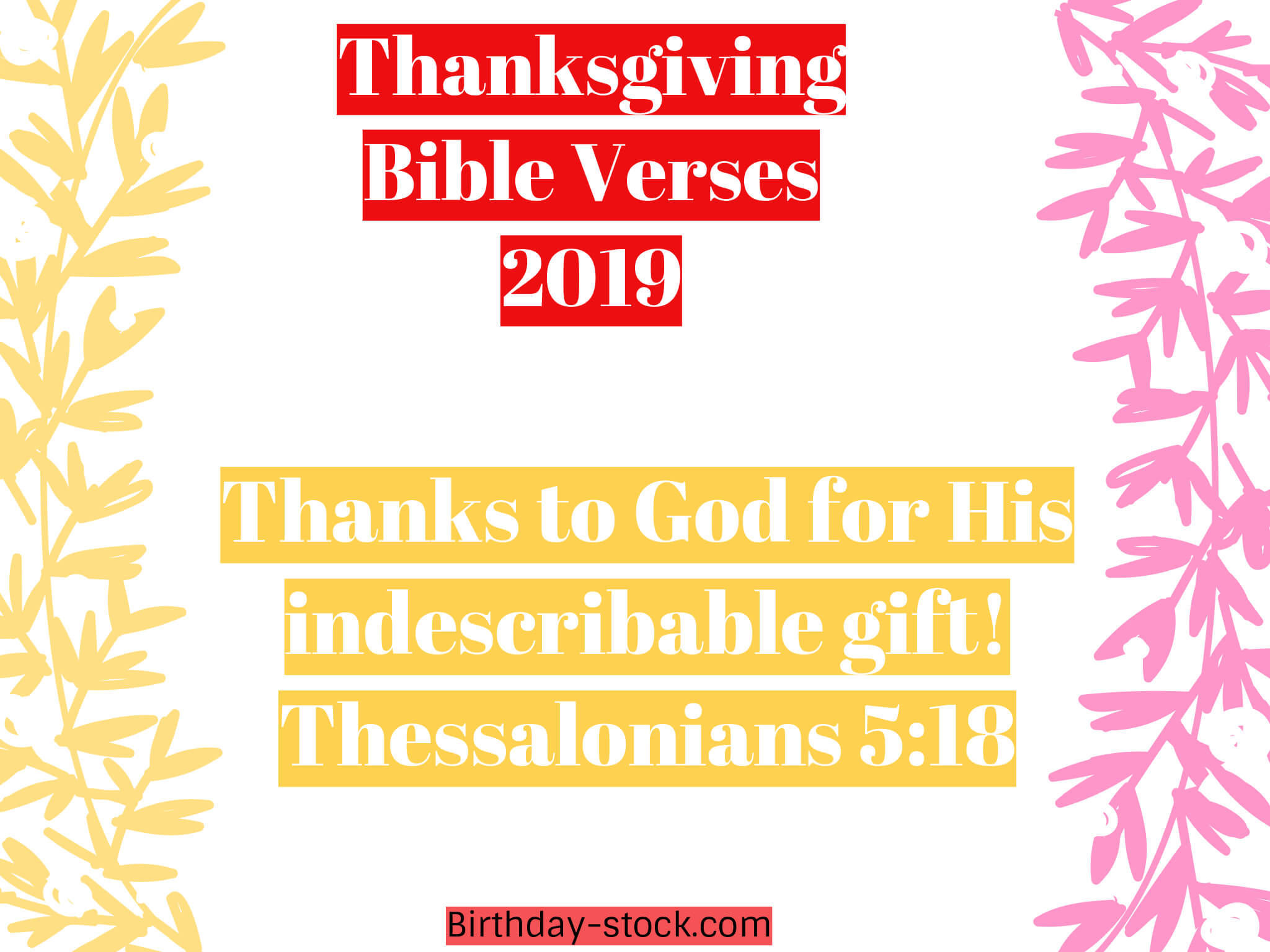 Happy Thanksgiving Bible Verses 2019 For Christian Friends