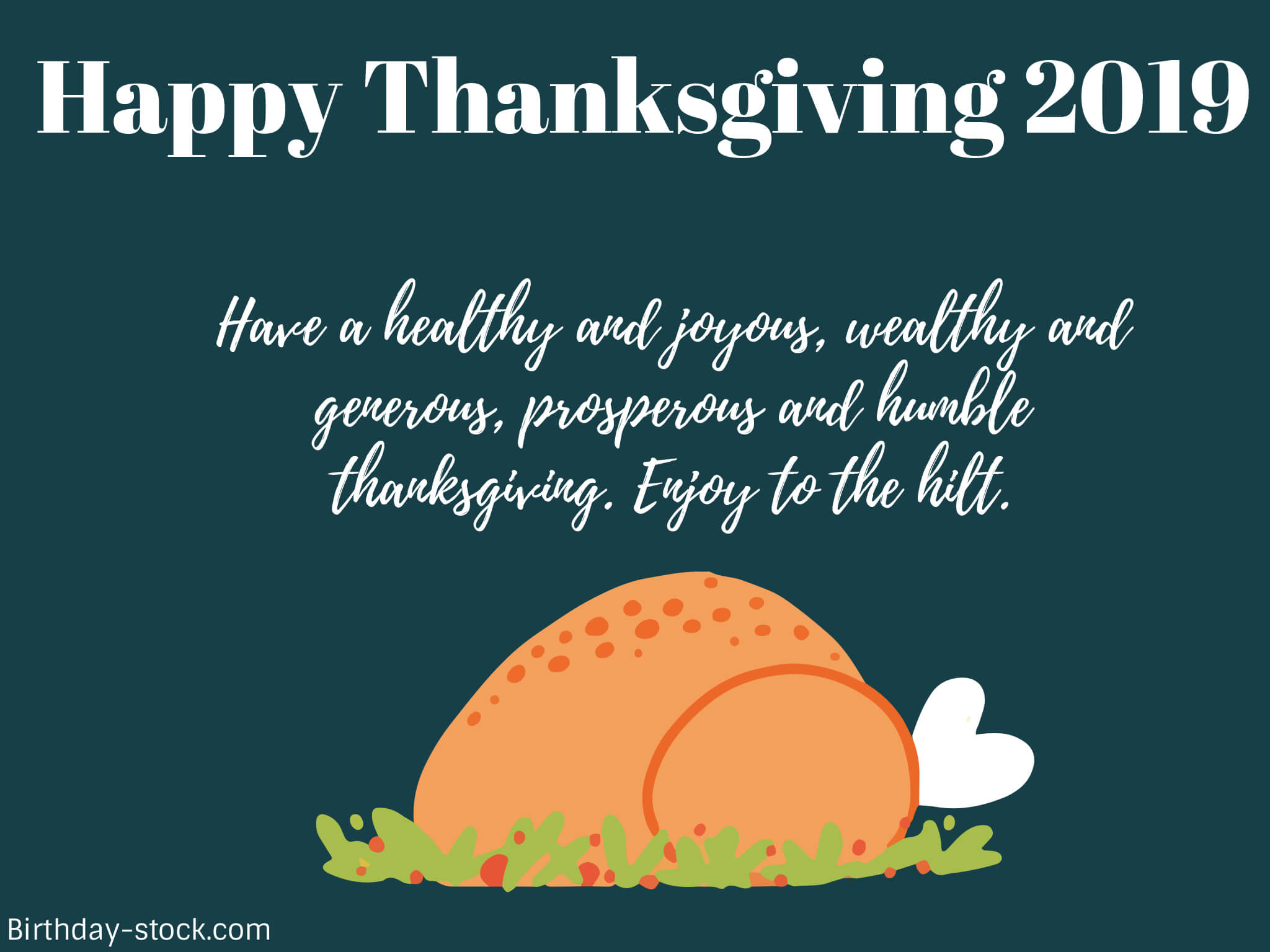 Happy Thanksgiving Day Greetings 2019