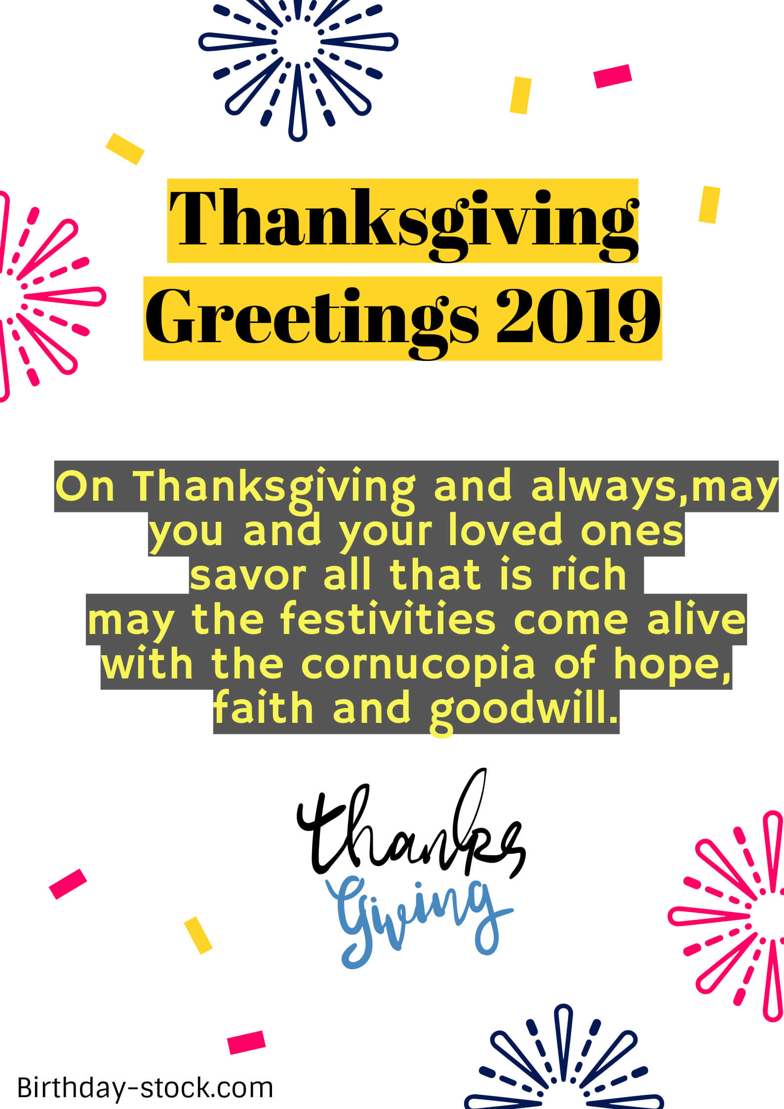 Happy Thanksgiving Greetings Sayings Wishes 2019
