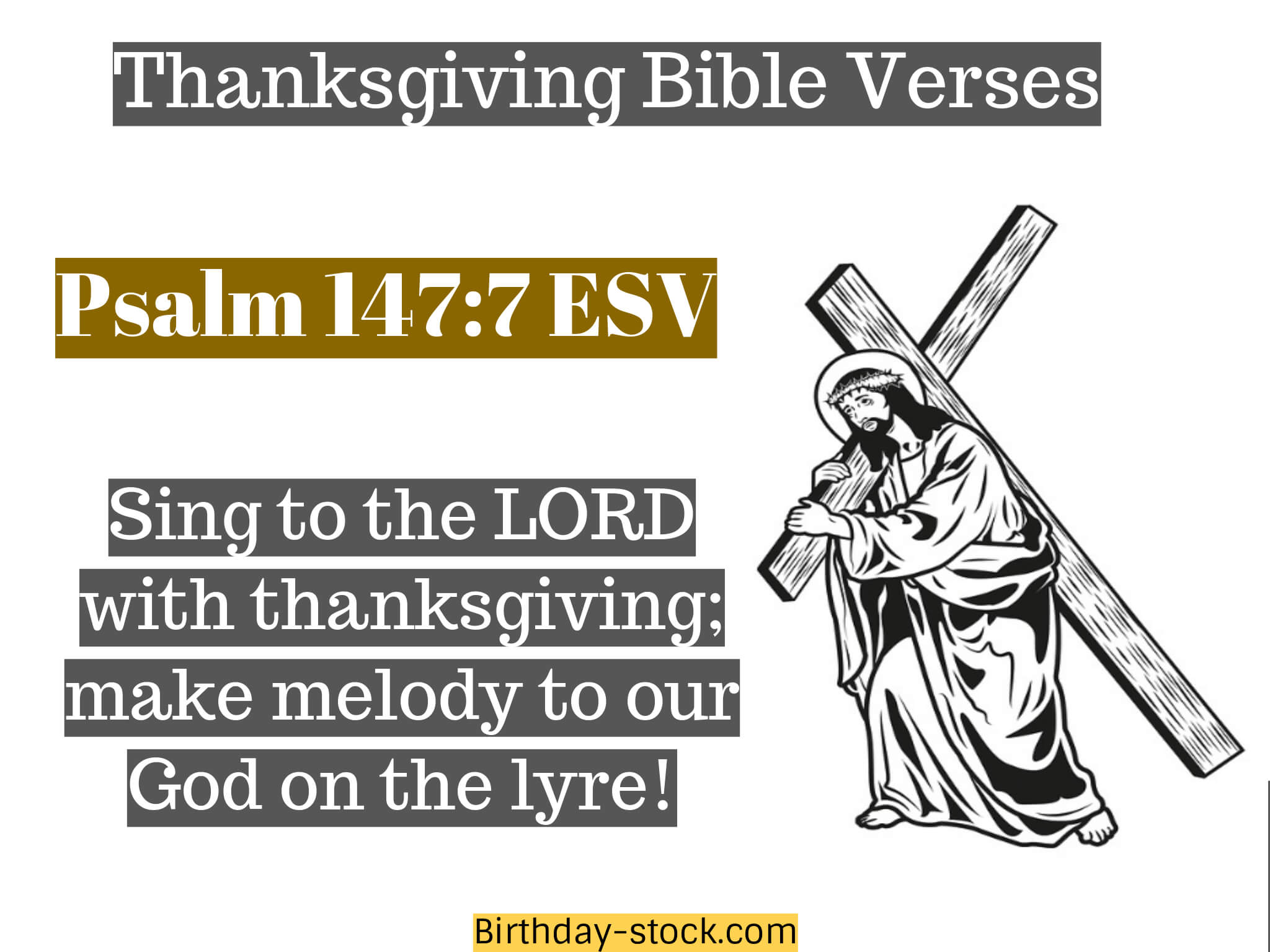 Thanksgiving Bible Verses for Christian Friends
