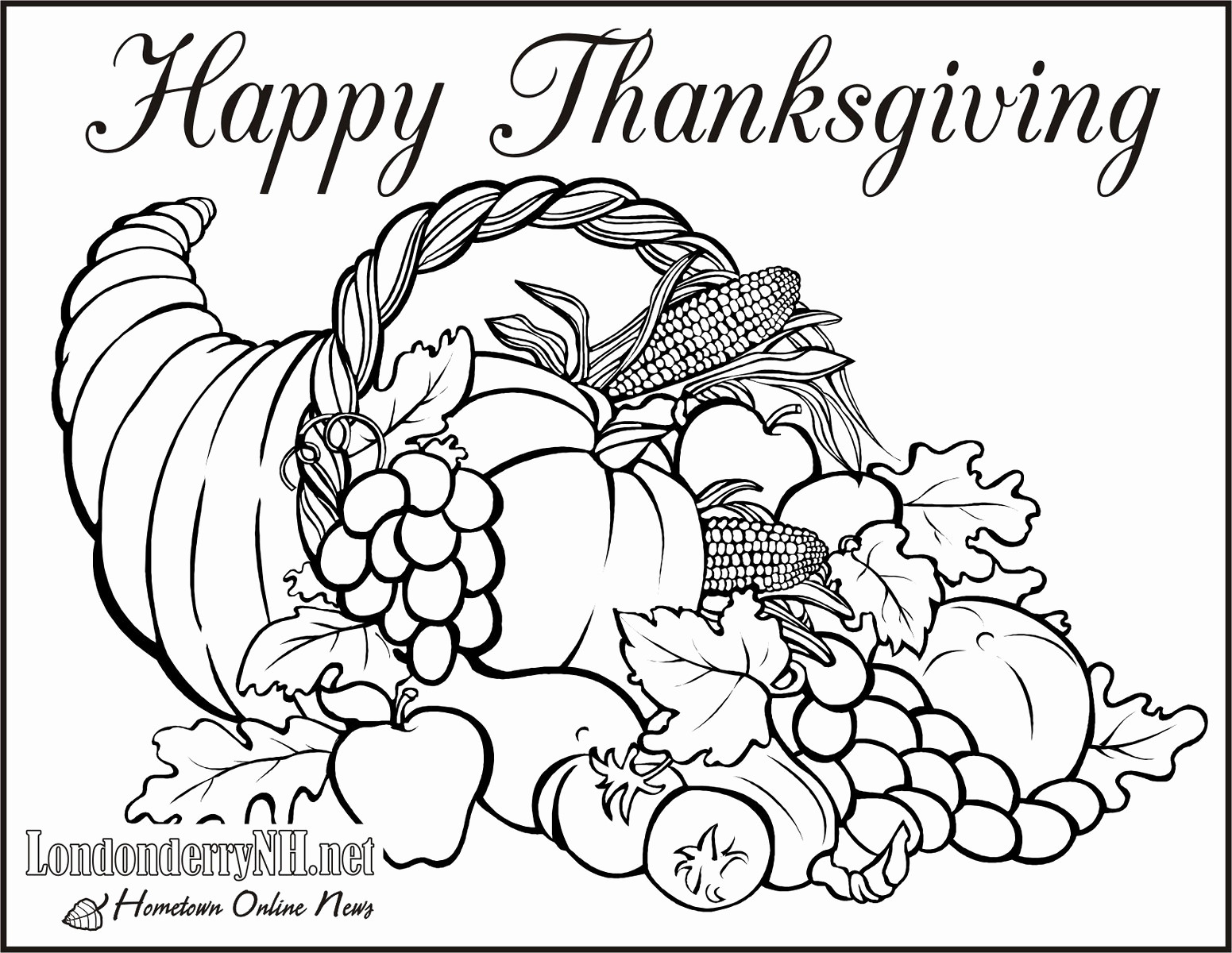 Thanksgiving Coloring Pages 2019