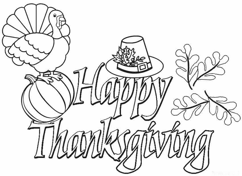 Thanksgiving Coloring Pages 2020