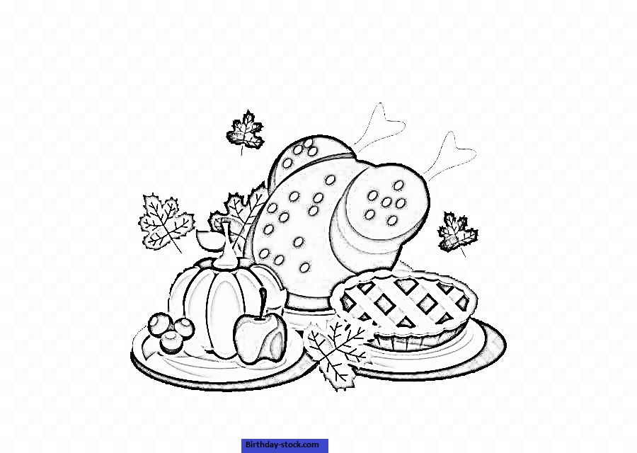 Thanksgiving Coloring Pages Dinner