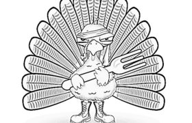 Thanksgiving Coloring Pages With Turkey