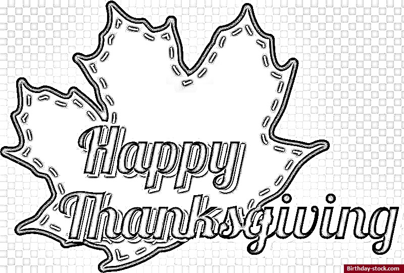 Thanksgiving Coloring Pages with Leaf