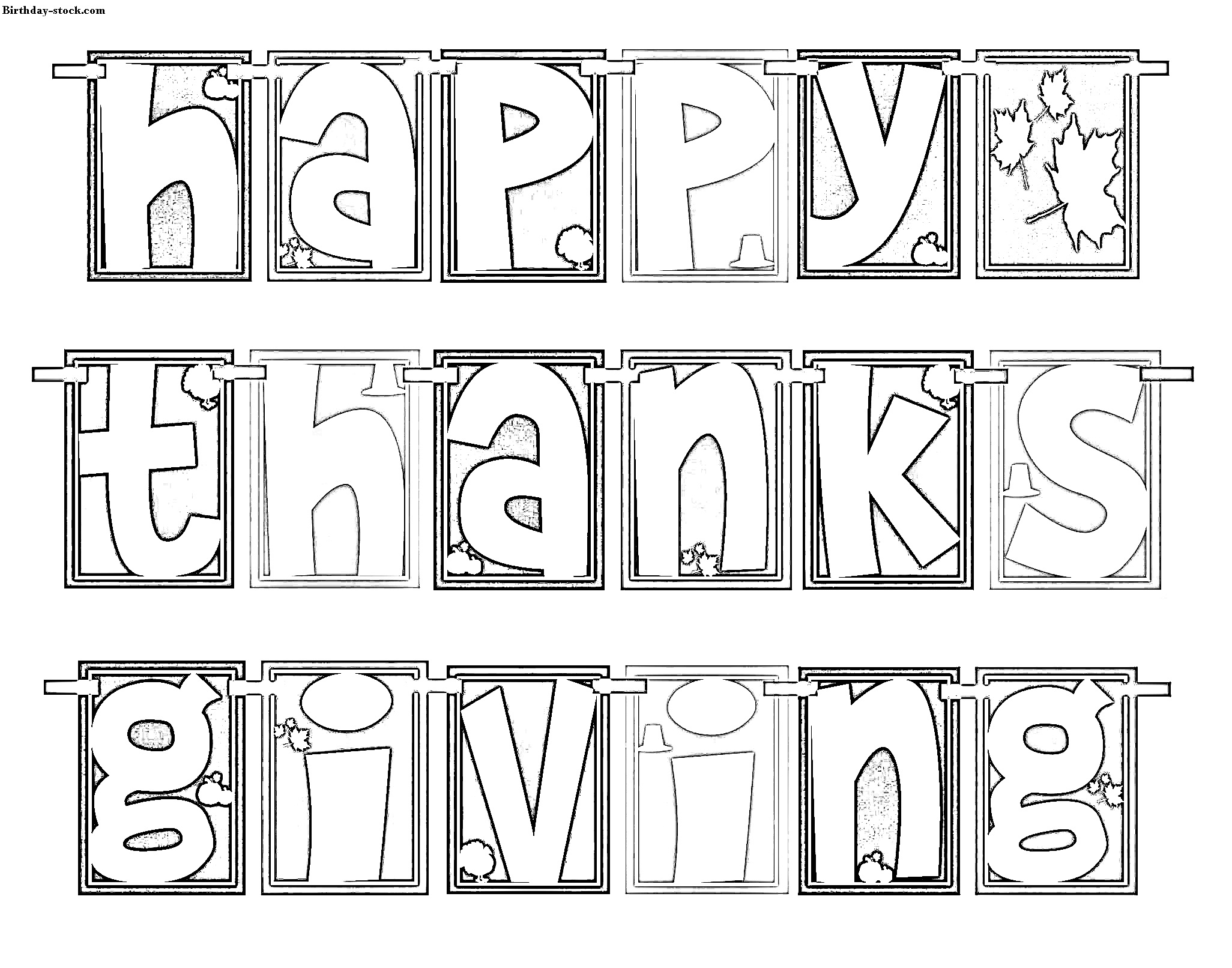 Thanksgiving Coloring Sheets 2019