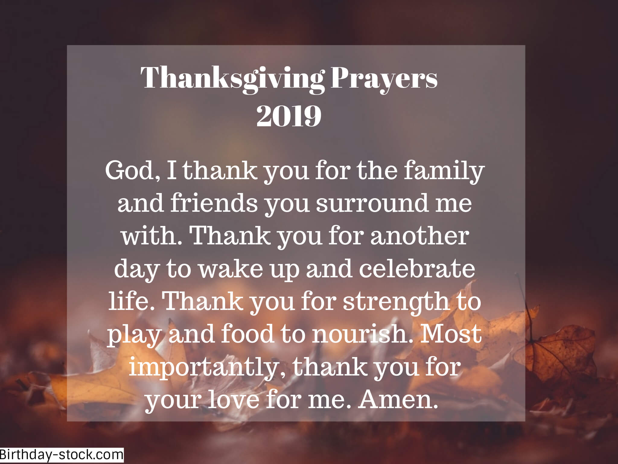 Short Thanksgiving Prayers 2019 for School Children Families Teachers