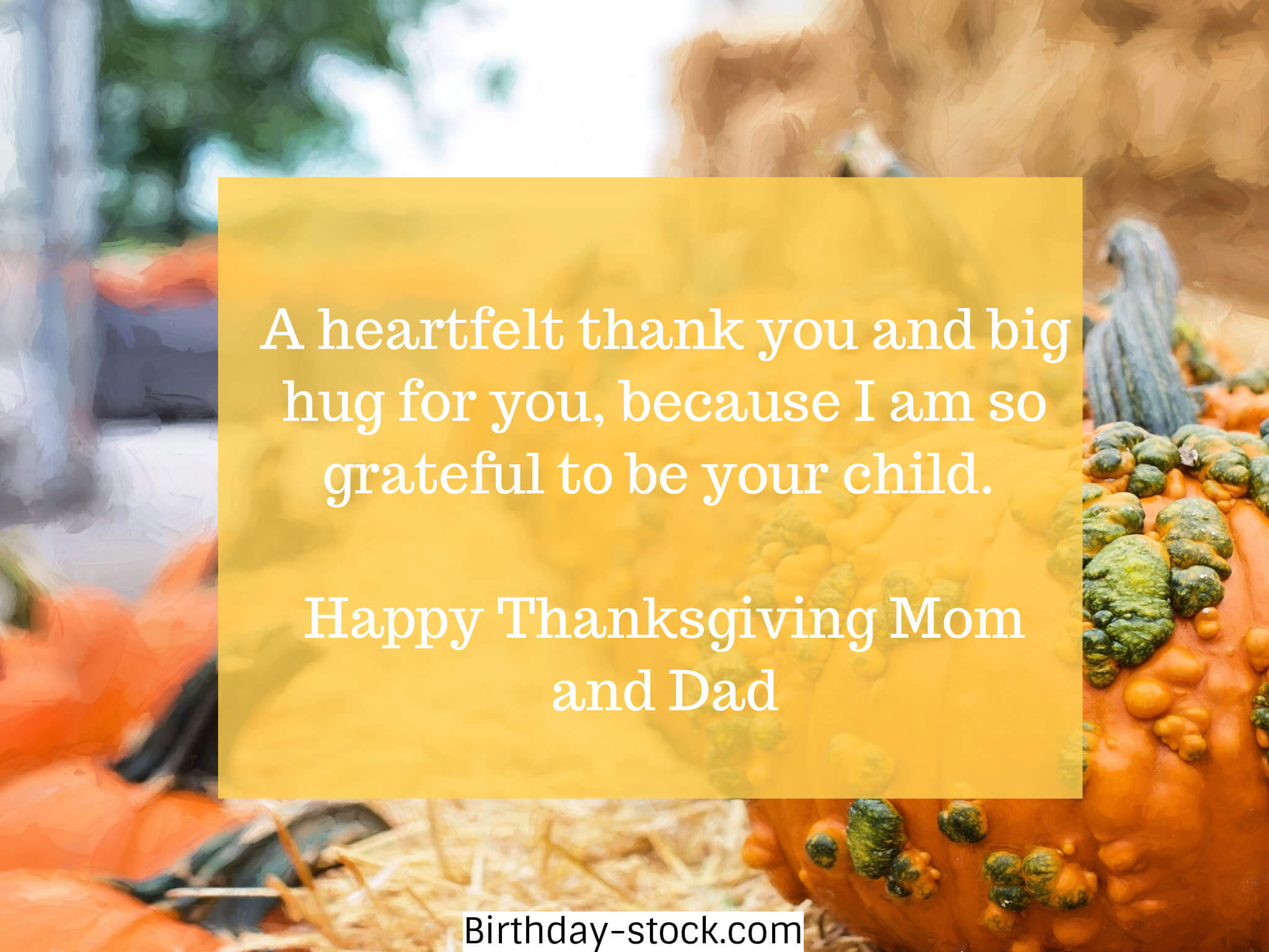 Thanksgiving Wishes for Mom and Dad