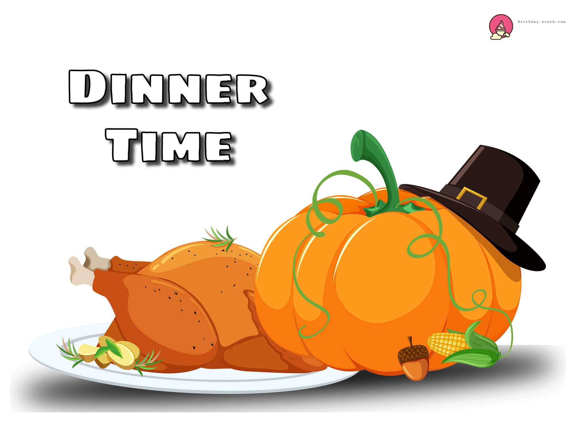 Thanksgiving clipart dinner & food