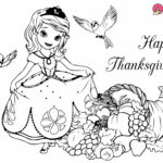 thanksgiving coloring pages with Disney