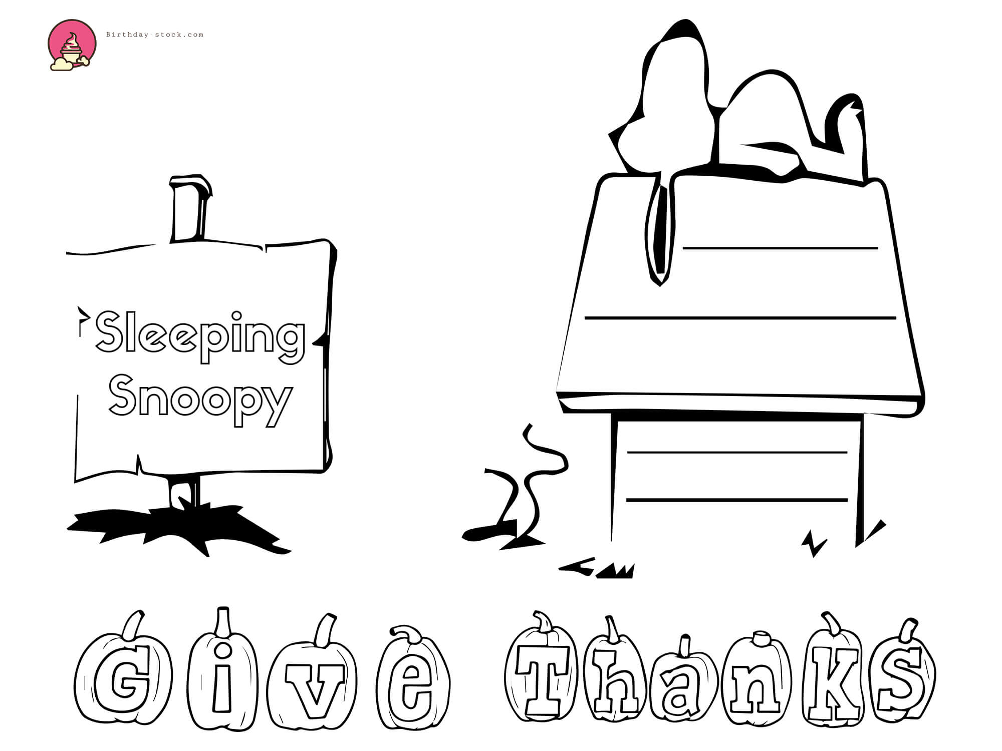 Snoopy Happy Birthday Coloring Pages | Free Coloring Pages ... | 1500x2000