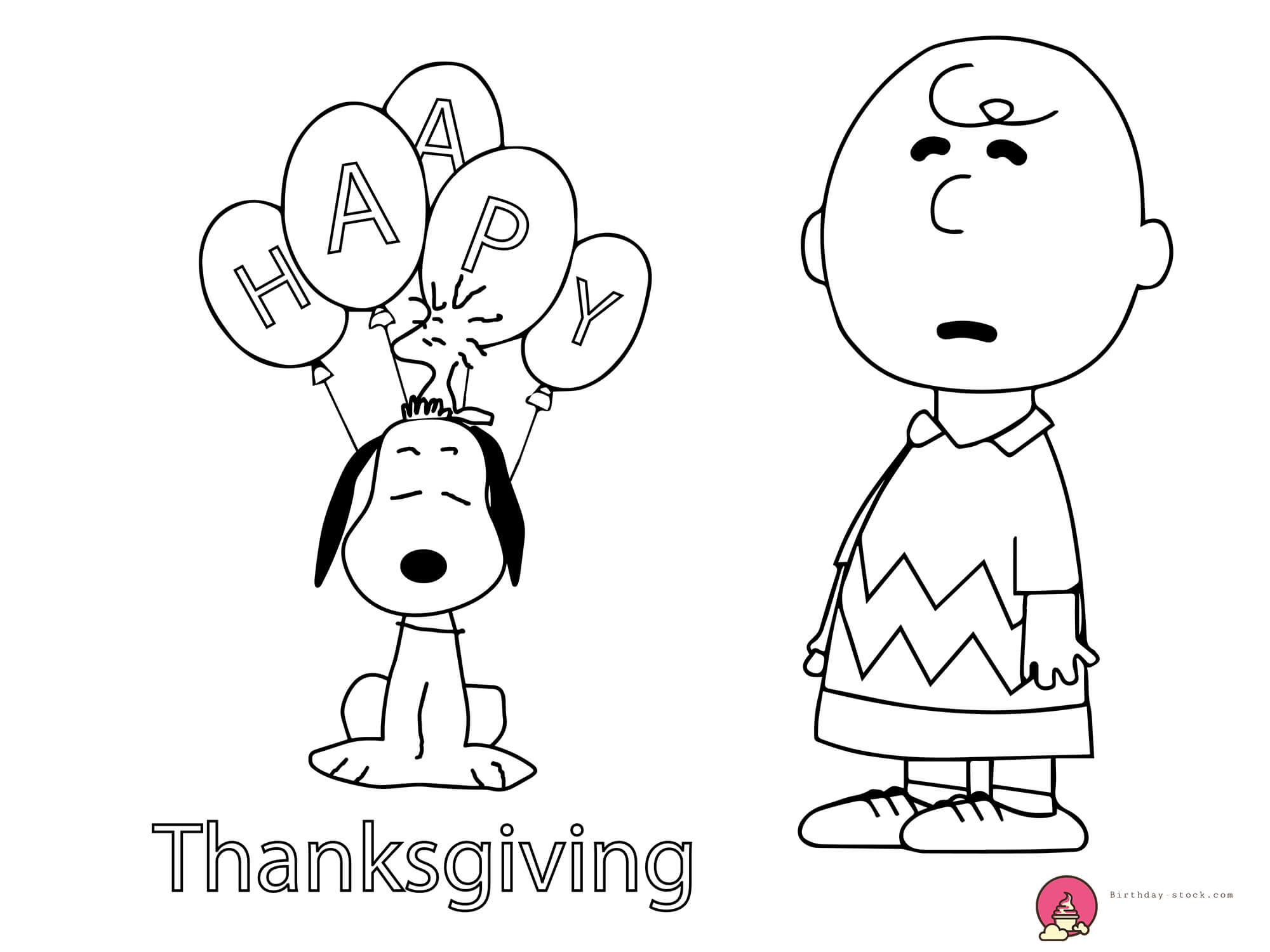 thanksgiving coloring pages with charlie brown