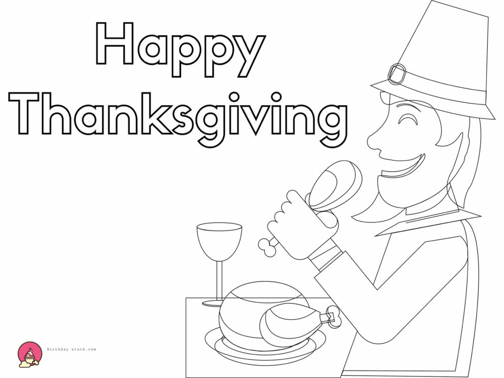 thanksgiving coloring pages with food