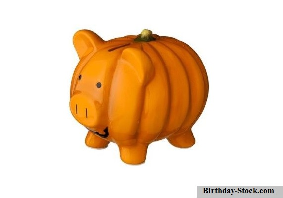 Pumpkin Carving Ideas with Piggy Bank
