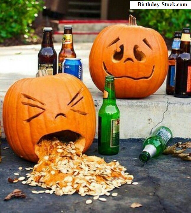Pumpkin Carving Ideas with Vomiting