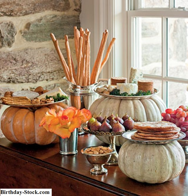 Pumpkin Carving ideas with buffet