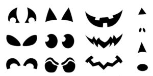 jack o lantern face patterns Stencils Templates Download