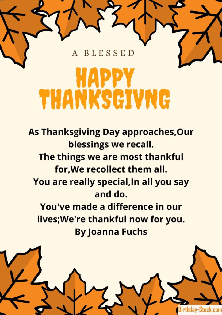 Best Happy Thanksgiving Poems 2020 For Family and Friends