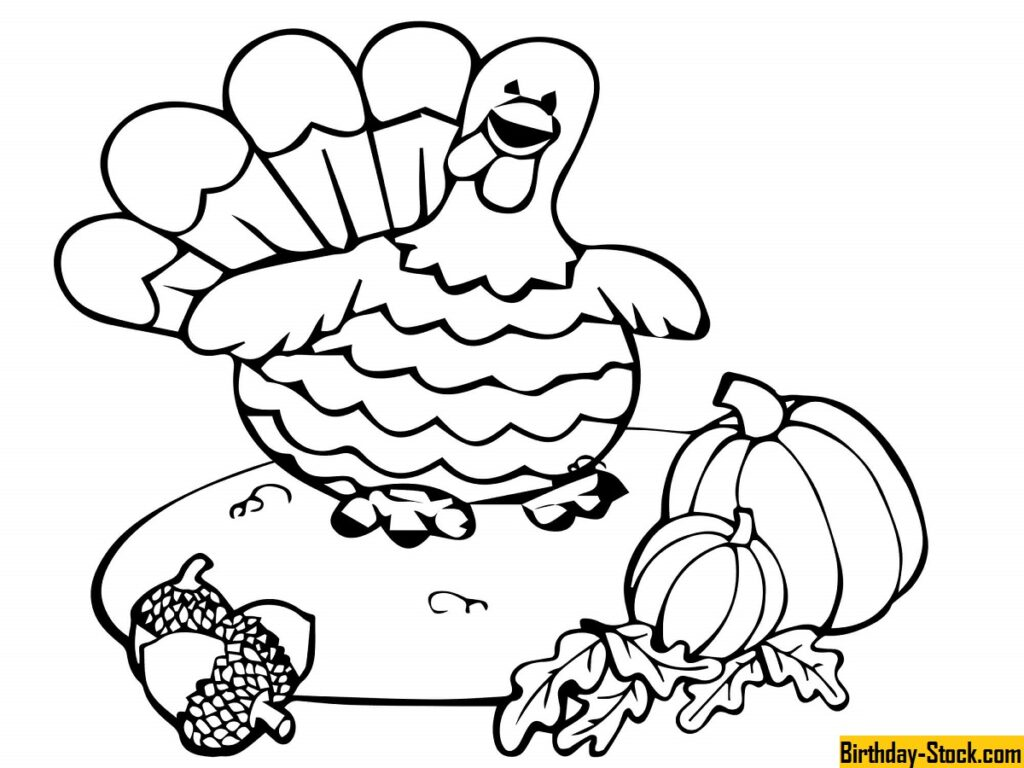 Happy Thanksgiving Coloring Pages Sheets Free Printables 2020 for Toddlers Kids