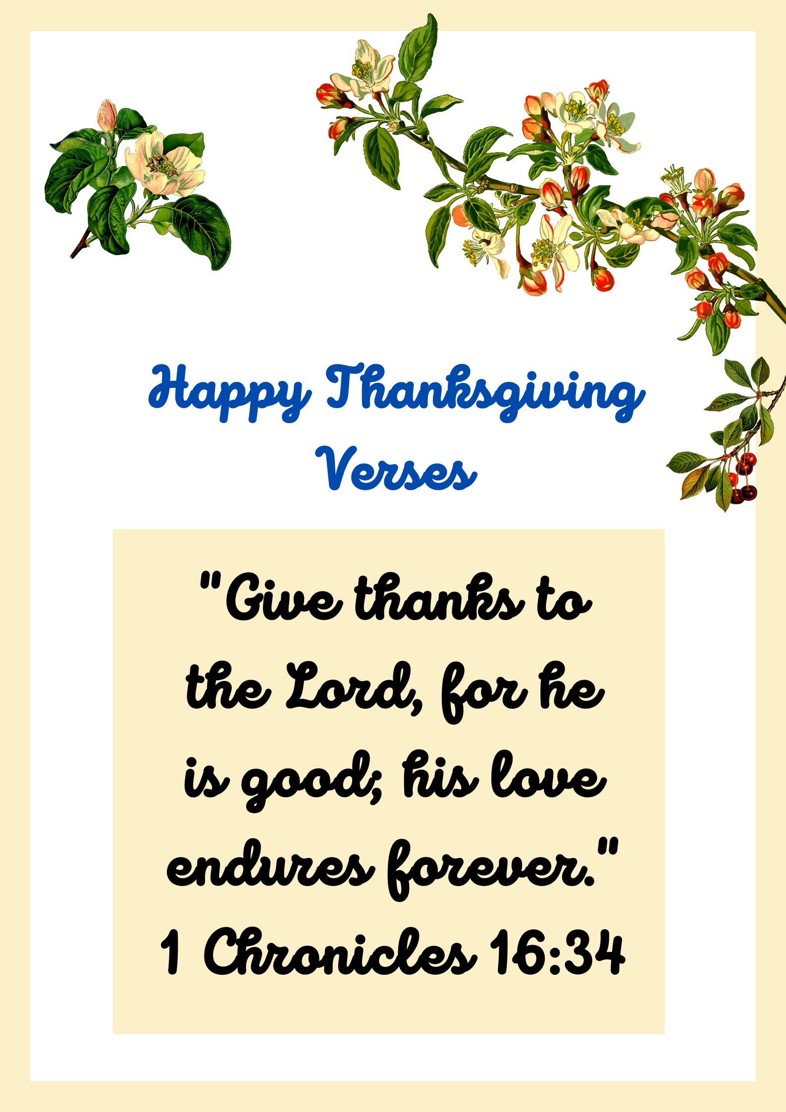 Thanksgiving Bible Verses 2020 for Family and Friends
